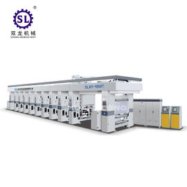 Automatic Gravure Printing Machine / Rotogravure Machine Twin-reel Rotating Design